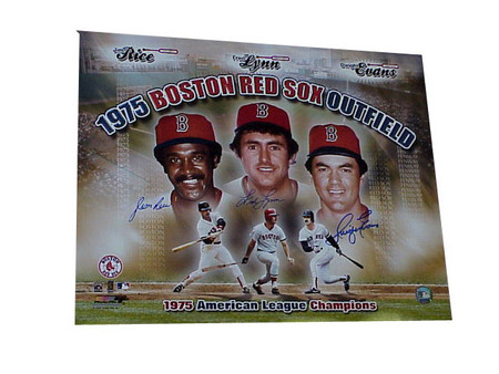 Jim Rice + Dwight Evans + Fred Lynn - 1975 Red Sox OF