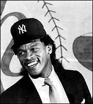 Rickey Henderson on Yankees