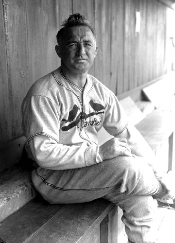 FRISCH, FRANKIE (BASEBALL-HEAD) Cardinals in training St. Petersburg Fla. Frankie Frisch-manager of the St. Louis Cardinals.    Original Filename: ENV65685 001P.tif
